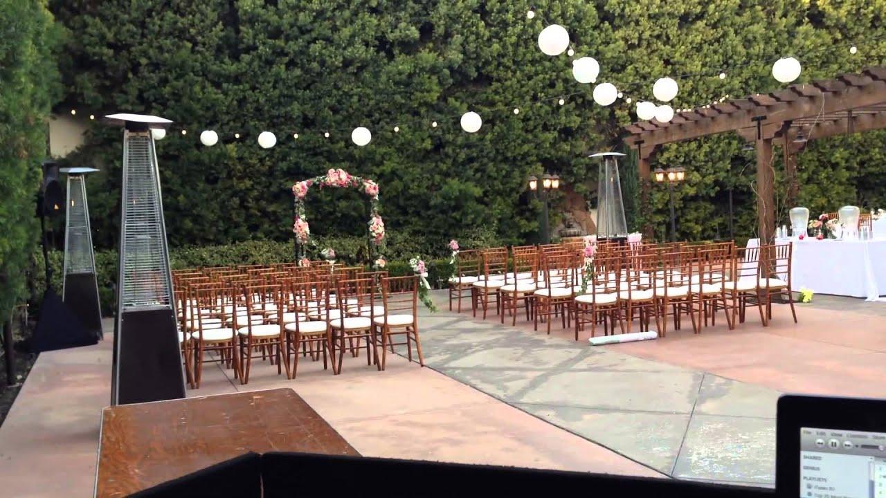 Franciscan Gardens Tiny Wedding Dj Giglog San Juan Capistrano Youtube