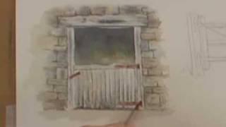 Watercolor Painting Lesson - Wood, Metal & Rust