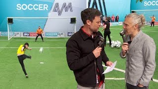 Wayne Bridge and Jimmy Bullard commentate on the Watford fans' Soccer AM volley challenge!