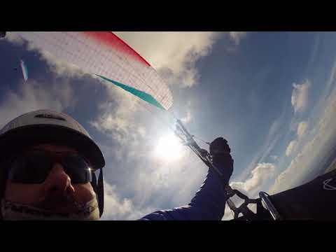 Paragliding XC, first day of the year from Bell Hill