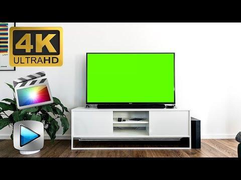 TV Screen In Clean Room - Green Screen Footage Free 4K