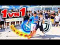 ⚽ 🤑 1 vs 1! SE VINCI TI REGALO 5 EURO!!! NAPOLI - JUVENTUS EDITION