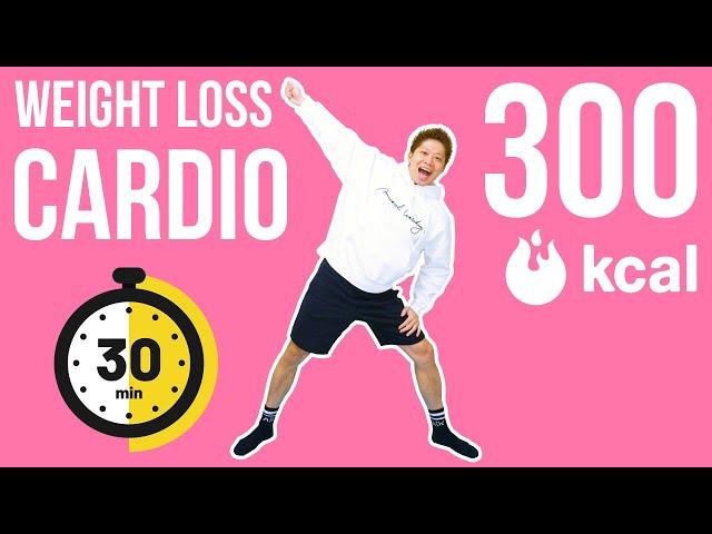 [30 min] Burn 300 kcal weight loss cardio! 滝汗有酸素運動で正月太りを一気に解消!