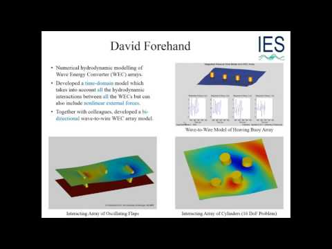 Dr David Forehand Research Interests - Numerical Hydrodynamic Modelling