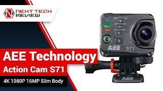 AEE Technology Action Cam S71 4K 1080P 16MP Slim Body Product Review  – NTR