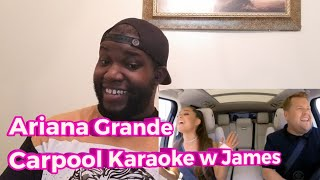 Ariana Grande Carpool Karaoke| Reaction