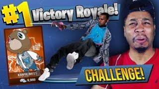 *NEW* KANYE WEST CHALLENGE in Fortnite Battle Royale! (AIMBOT GLITCH?)