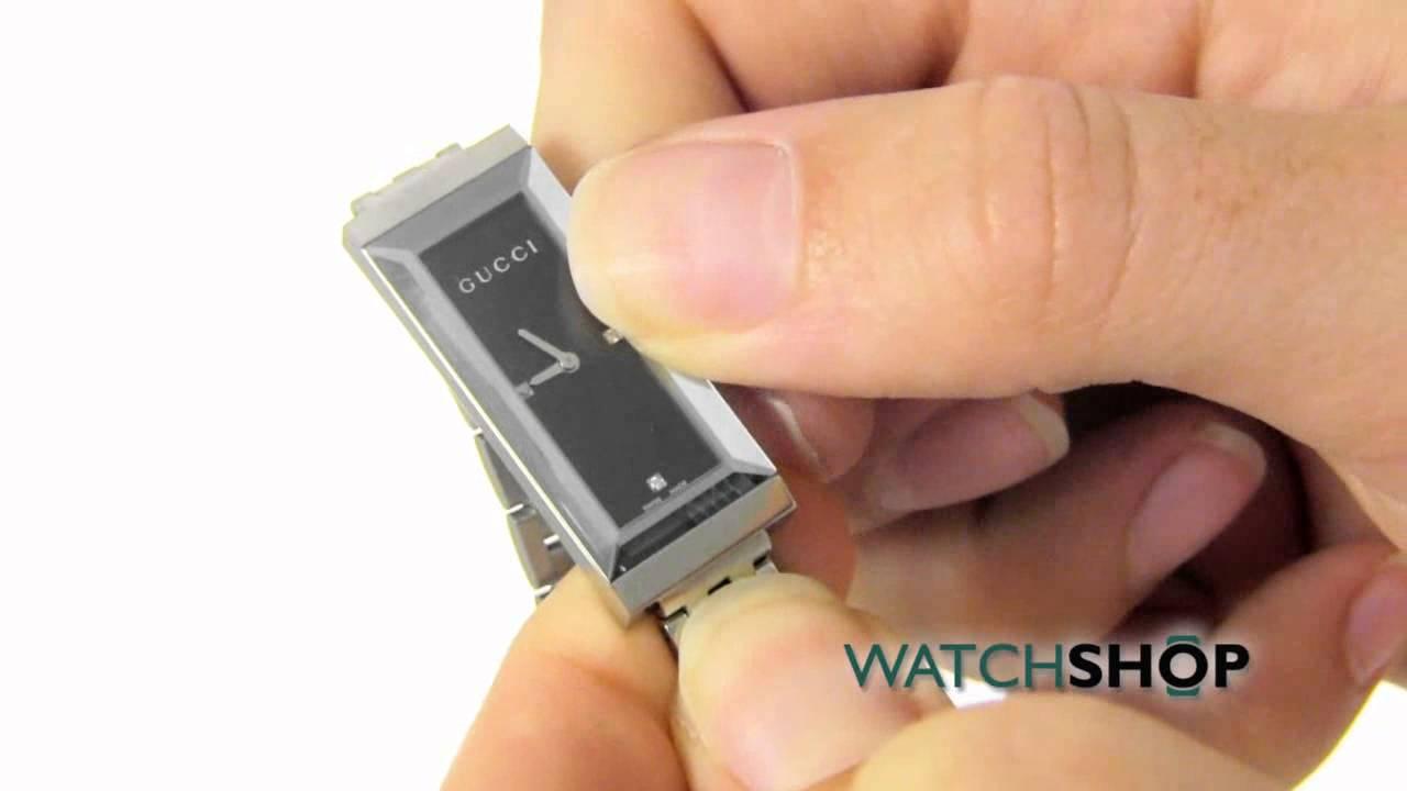 Gucci Ladies\' G-Frame Diamond Watch (YA127504) - YouTube