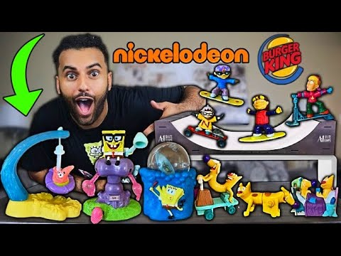 I Bought ALL The VINTAGE NICKELODEON HAPPY MEAL TOYS 2!! *FIRST EVER SPONGEBOB SQUAREPANTS TOYS!!*