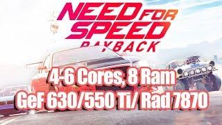 Need For Speed Payback на слабом ПК 4-6 Cores, 8 Ram, GeForce 630 550 Ti Radeon 7870