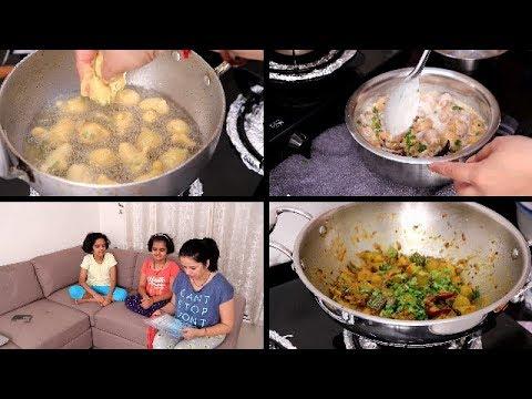 INDIAN DINNER ROUTINE   Simple Indian Dinner   Kaddu Ki Sabji, Dahi Fulki   Indian Youtuber  Vlogger