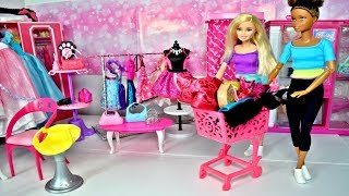 Barbie Shopping Trolley Barbie Clothes and Bags Shopping Barbie Car Barbie Dream House