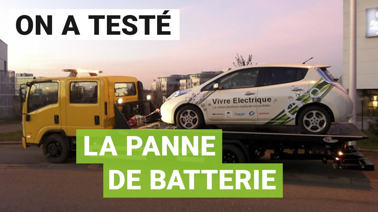 test de la panne s che de batterie avec une voiture lectrique youtube. Black Bedroom Furniture Sets. Home Design Ideas