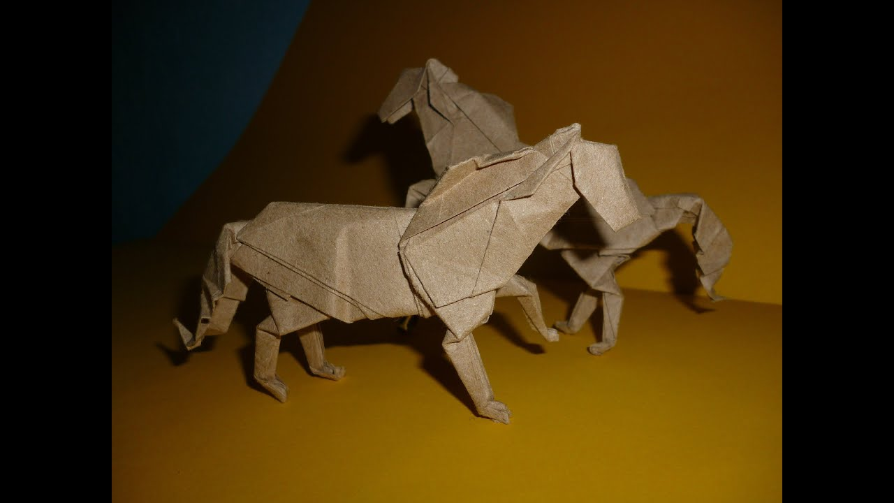 Origami Horse Instructions  J  An U00edbal Voyer