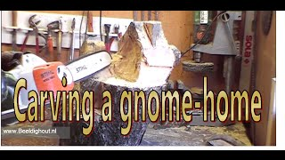 Carving A Gnome Home By Beeldighout.nl