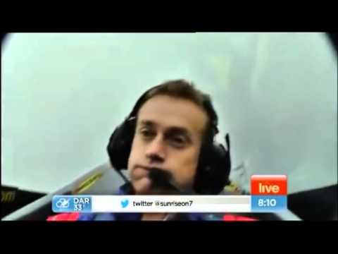Weatherman Fail   Grant Denyer Passes Out In Stunt Plane In Australia on Live TV