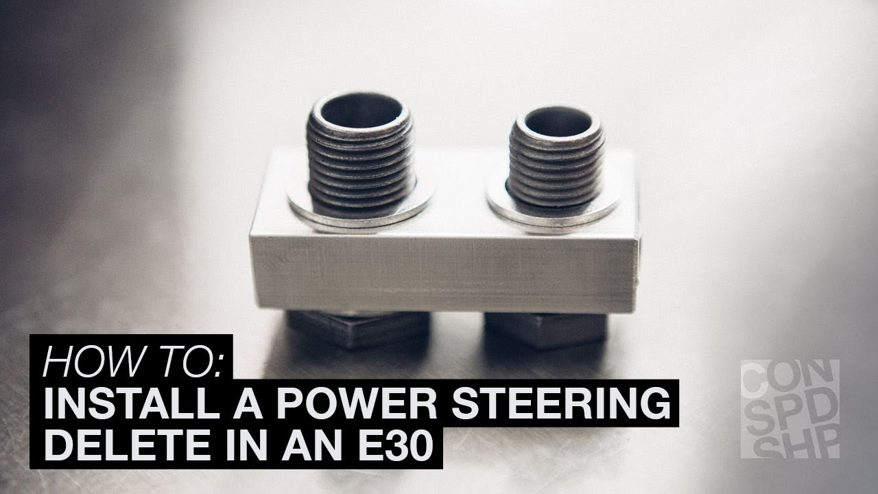 How to install a power steering delete in an E30 - Condor Speed Shop