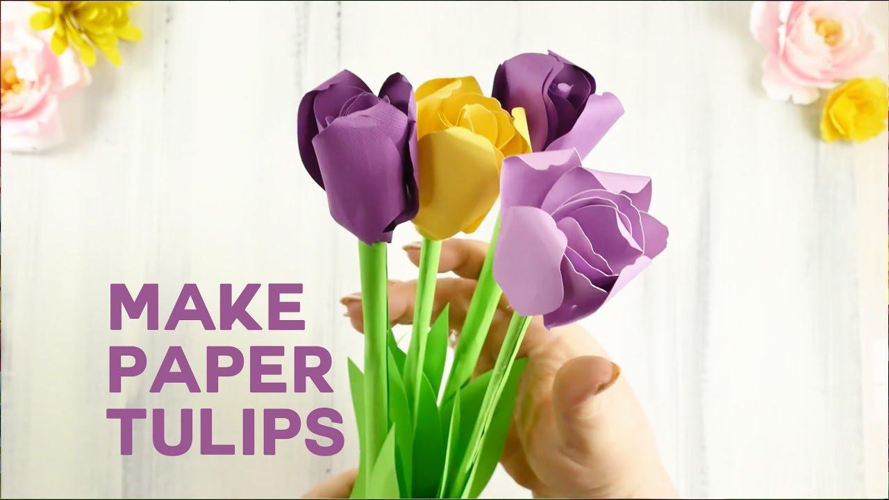 Pretty paper tulip flower tutorial rolled flowers youtube pretty paper tulip flower tutorial rolled flowers mightylinksfo