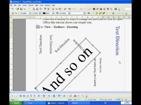 Change Text Direction in Open Office