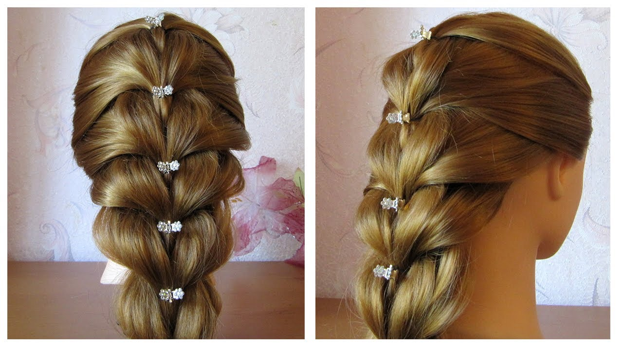 tuto coiffure simple cheveux mi long long tresse facile