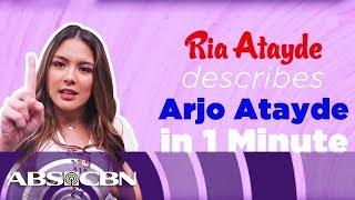 Ria Atayde Describes Brother Arjo In One Minute