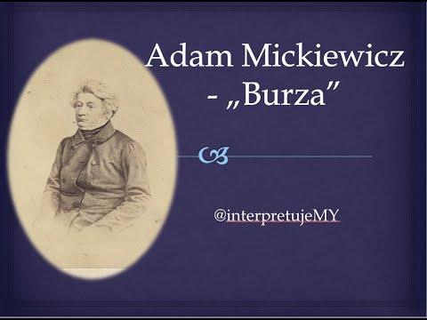 Interpretacja I Analiza Wiersza Burza Adama Mickiewicza