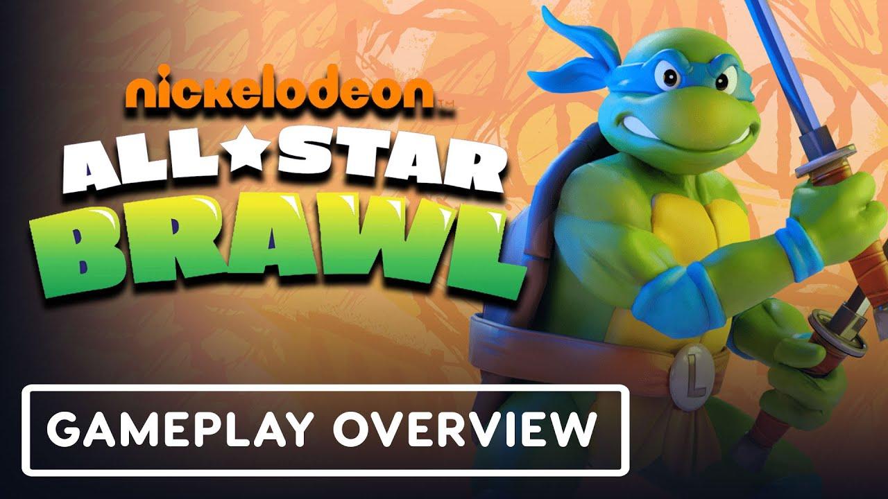 Nickelodeon All-Star Brawl - Official TMNT Leonardo Gameplay Overview - IGN