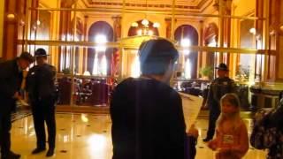 Mic Check! Against Fracking at Gov. Pat Quinn's Office