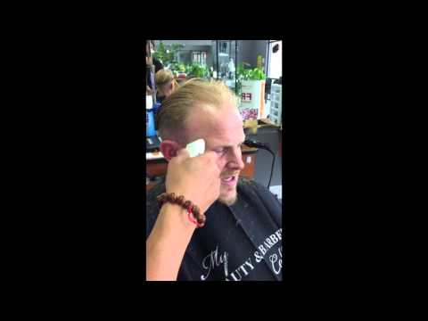 2016 Comb Over Undercut Pompadour Slicked Back Hairstyle - Chin Strap