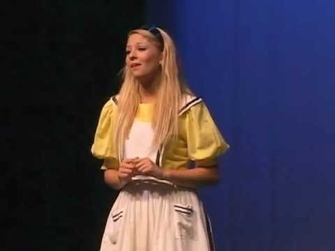 Madison Carney in Alice in Wonderland musical