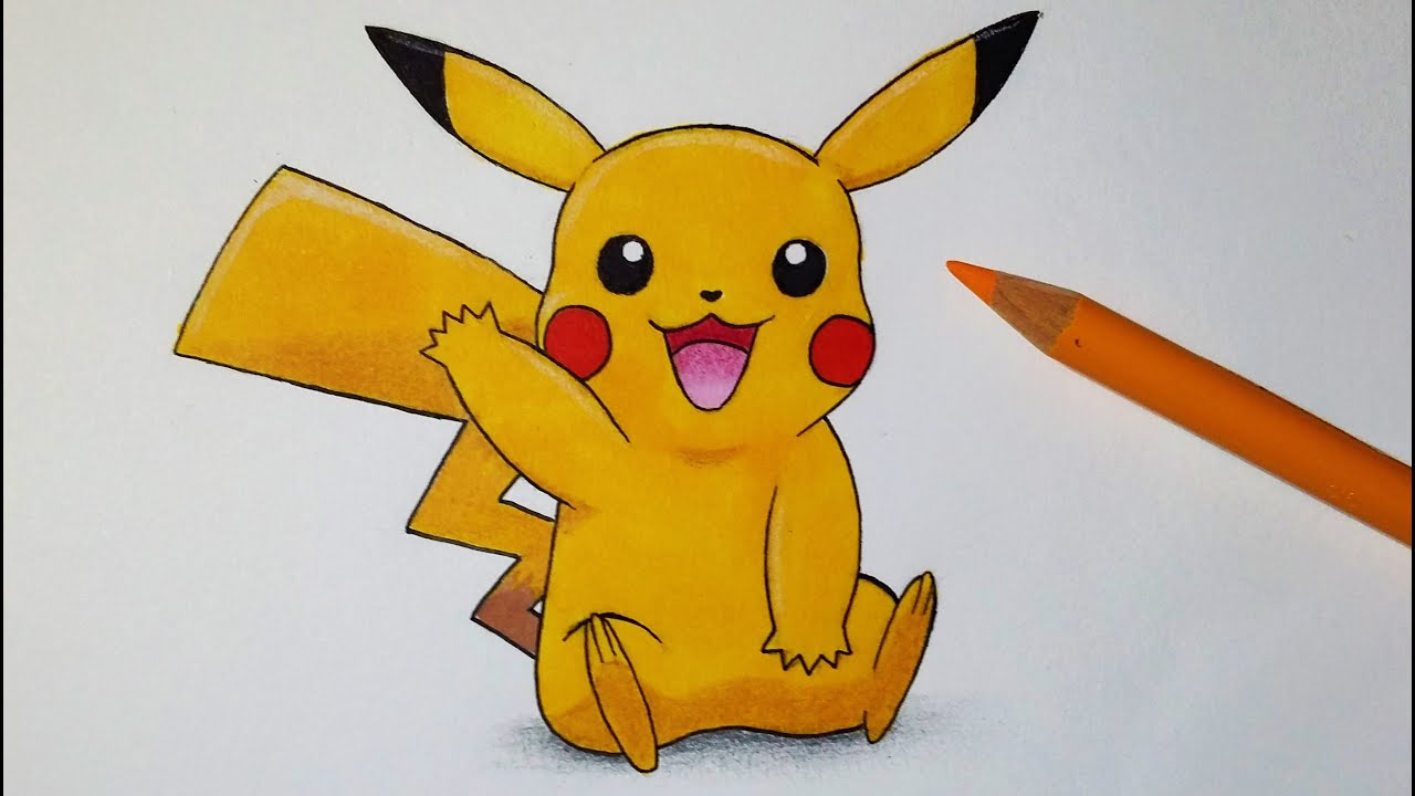Comment dessiner pikachu tutoriel youtube - Pikachu en dessin ...