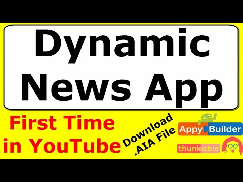 Download AIA of Dynamic News App | How to create News Feed App in Thunkable / AppyBuilder
