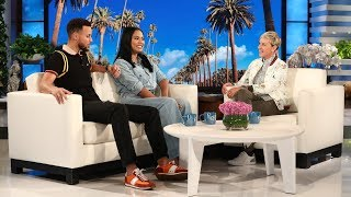 can ellen get steph ayesha curry to reveal their babys gender?