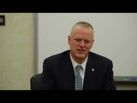 Massachusetts Gov. Charlie Baker talks about help in Schools for Puerto Rico Storm Victims