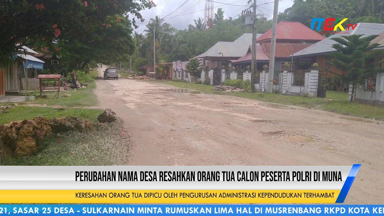 Perubahan Nama Desa Resahkan Orang Tua Calon Peserta Polri di Muna