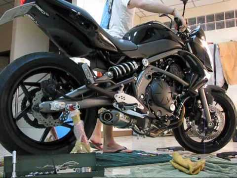 Kawasaki Er6n 2009 With Two Brothers Vale Slip On M 2 Aluminum