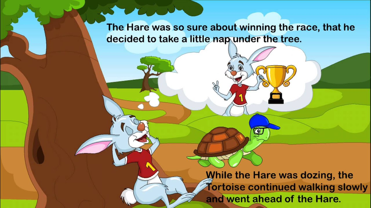 Stories For Children - The Hare And The Tortoise - YouTube