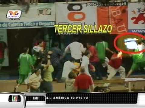 TVC DEPORTES bronca mexico vs uruguay basquet