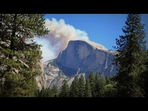 California Wildfires - Yosemite National Park, Half Dome.