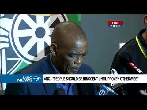 ANC SG Magashule briefs media on NEC meeting outcomes