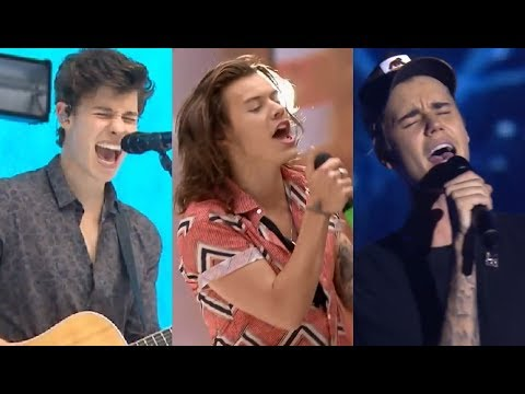 Famous MALE Singers SLAYING High Notes! (LIVE   Compilation)