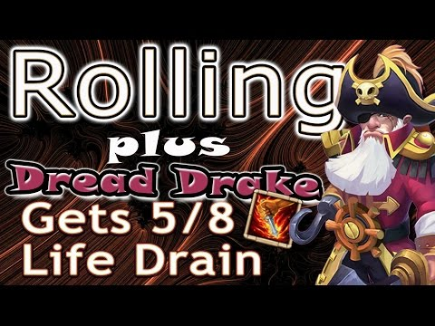 Castle Clash-Rolling 2k Gems And Dread Drake Gets 5/8 Life Drain