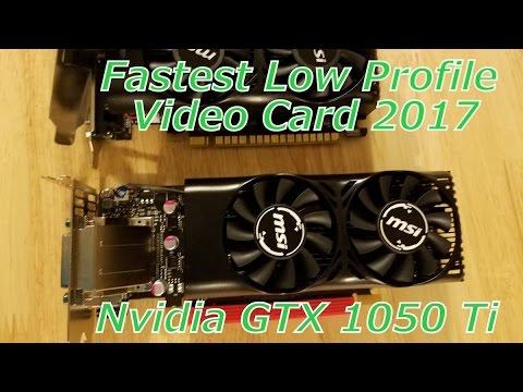msi geforce gtx 1050 ti low profile - 4gb gddr5 ram
