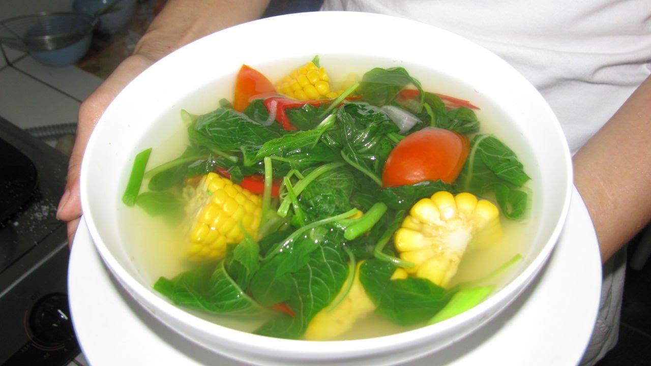 Boiled Spinach With Corn Recipe Resep Rebusan Sayur Bayam Dan Jagung Youtube