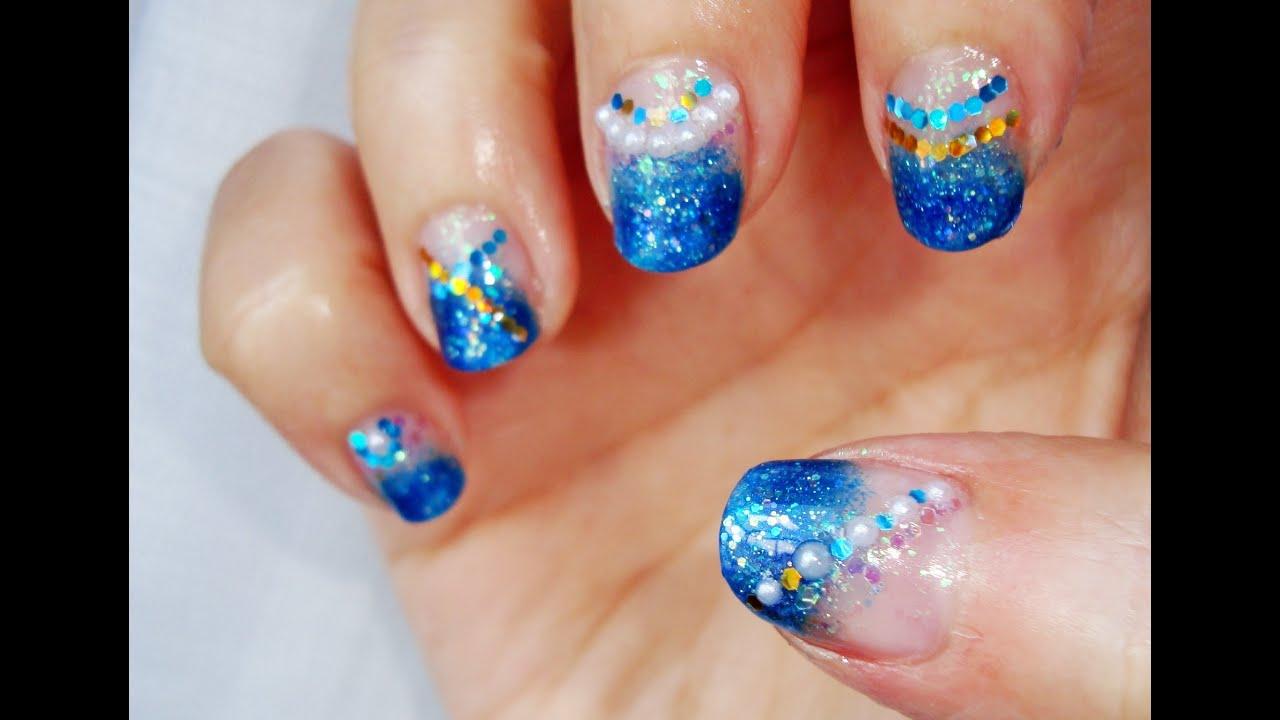 Diseño de uñas azul turquesa: sirenas / Turquoise blue nail design ...
