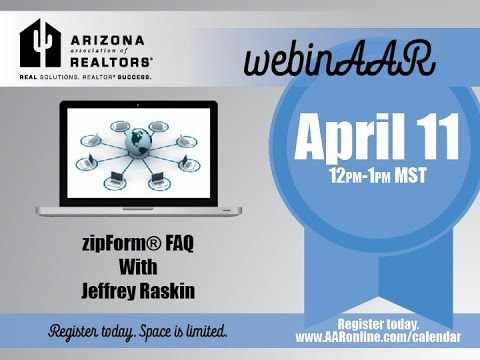 zipForm FAQ Webinar April 11, 2018
