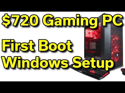 CyberPowerPC - $720 - i5-7400 - First Boot - Windows Setup