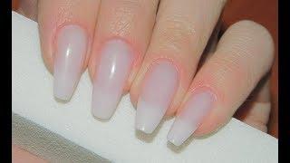 Как нарастить ногти формы пуанты (срезанный миндаль)