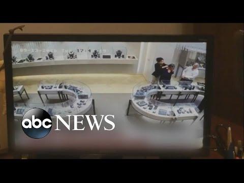 Million-Dollar Jewelry Heist Caught on Camera