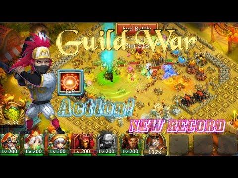 Scorch 9 Ronin Guild War Action Vs 510K+Might - Castle Clash